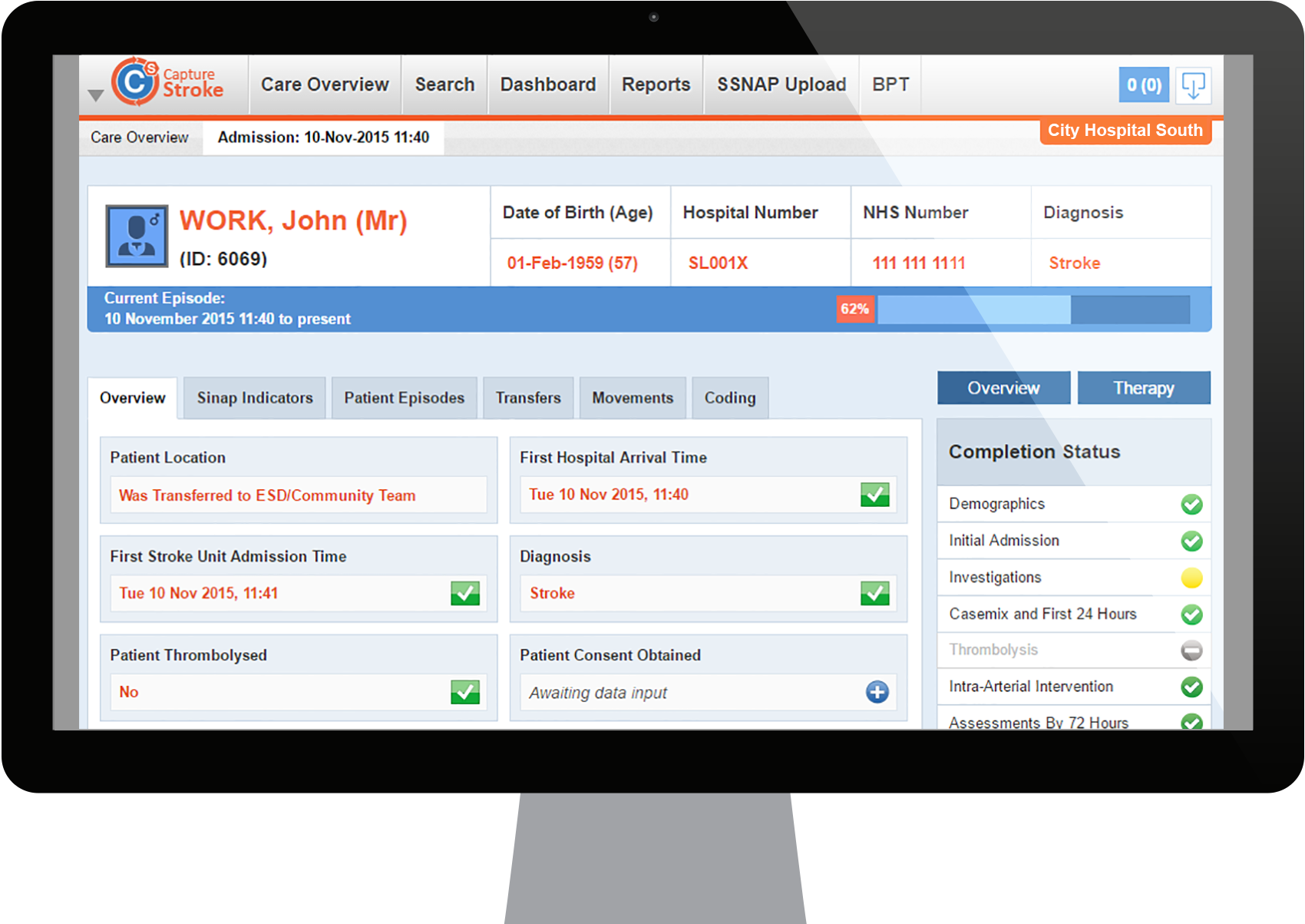 Capture Stroke Data Collection And Care Performance